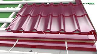 Umbrella® Double-modular metal tile - Mounting guidelines for double pitched roof