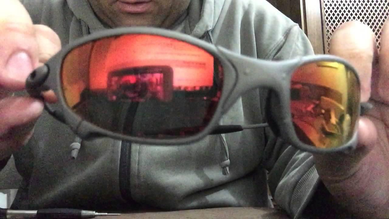 45e5693c8033c Como colocar lentes e borracha em óculos Oakley originais - YouTube