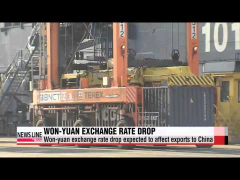 Won-yuan exchange rate drop to its lowest in nearly three years