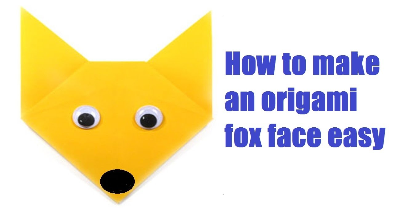 How to make an origami fox face easy youtube how to make an origami fox face easy jeuxipadfo Gallery