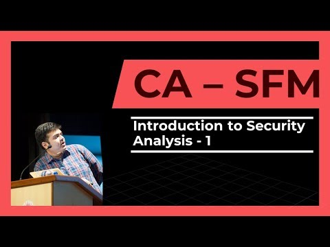CA Final | SFM | Introduction to Security Analysis | Part 1 | 2017