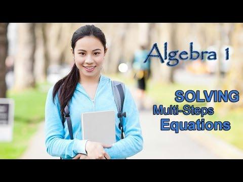 Algebra 1 Multi Step Equations: 6=1-2n+5 (Quick Math Videos) - YouTube