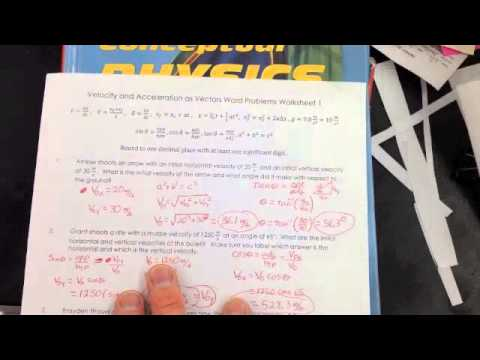 Velocity and Acceleration as Vectors Worksheet Problem 1 - YouTube