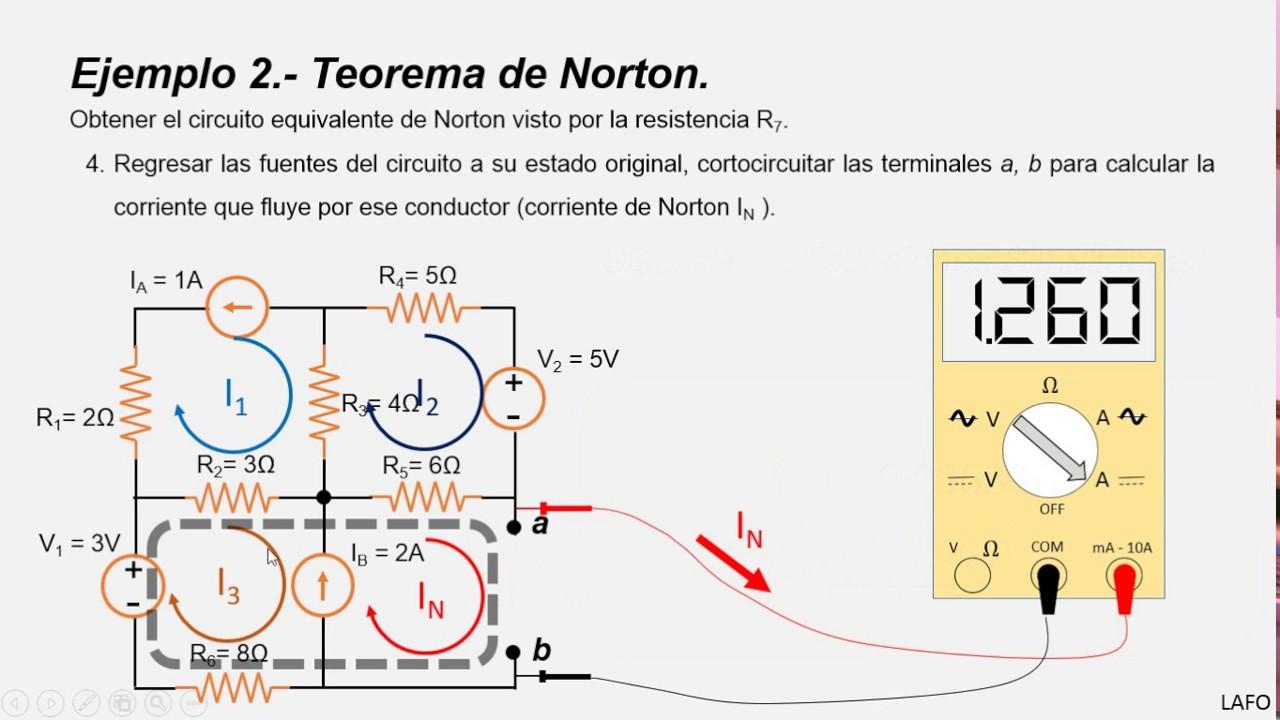 Encuentre El Circuito Equivalente De Norton Teorema Thevenin Y Thvenins And Equivalent En Cd Ejemplo Youtube