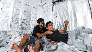 I Covered My Brother&#39s ENTIRE ROOM in TIN FOIL!  Mohit&#39s BIRTHDAY Prank  Bhavesh Balchandani
