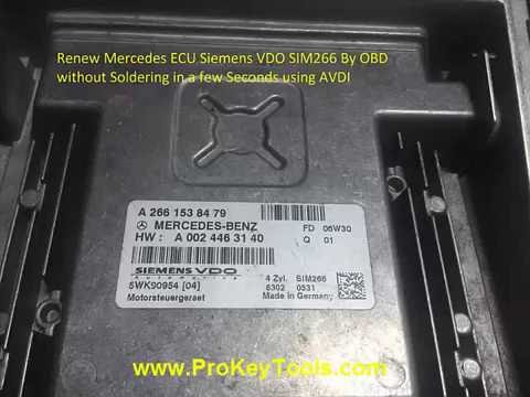 Renew Mercedes ECU by OBD in few seconds using AVDI