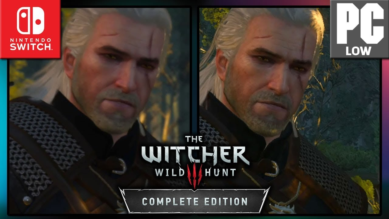The Witcher 3: Wild Hunt | Switch VS PC LOW | Graphics Comparison