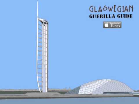Glasgow Guide - Glasgow Science Centre Millennium Tower - The 'Fawnty Tower'