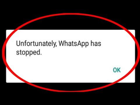 Unfortunately Whatsapp has Stopped Problem Solved | Unfortunately WhatsApp has Stopped Problem fixed