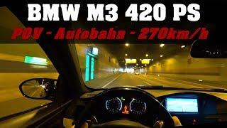 POV #2 | BMW E92 M3 V8 Coupé | 420 PS | Autobahn | Tunnel | Sound | Acceleration | Medium Mod