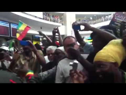 Capleton arriving in Johannesburg, South Africa for the first time