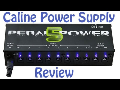 Caline Pedal Power 5 Power Supply Review - Pedal Board Power Supply - Guitar Effect Pedal Power