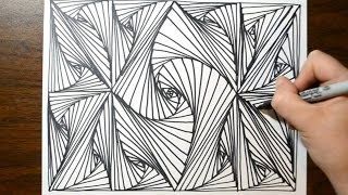 Cool Sketch Doodle Technique - Drawing a Random Pattern thumbnail