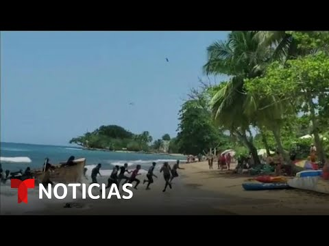 Así reaccionan playistas que captan llegada de inmigrantes | Noticias Telemundo
