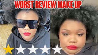 I WENT TO THE WORST REVIEWED MAKEUP ARTIST IN LONDON  MISS RFABULOUS