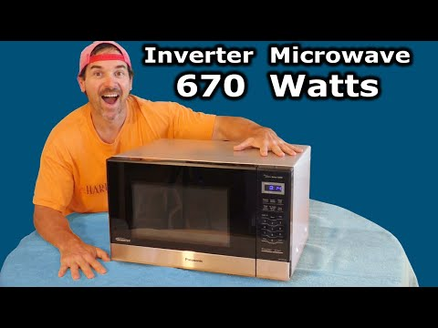 Inverter Microwave Oven REVIEW 670 WATTS Low Power Panasonic NN-SN67HS RV Solar Off Grid NN-SN686S