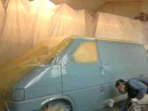 vw t4 bus lackieren part youtube. Black Bedroom Furniture Sets. Home Design Ideas