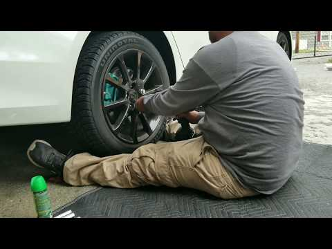Acura TLX How to replace rear brake pads and rotor with (electronic e-brake) no service tool