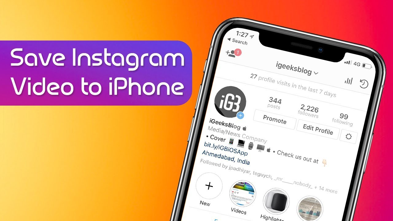 How To Download Instagram Videos To Iphone Camera Roll Youtube