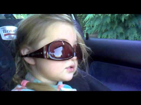 2 Year old toddler singing elvis in car