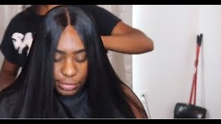 LACE CLOSURE SEW IN TUTORIAL | ELASTIC BAND METHOD | @theweavespecialist