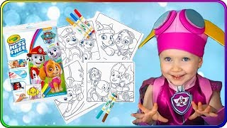 Тома и Игрушки Щенячий Патруль. Волшебная раскраска с фломастерами для детей.