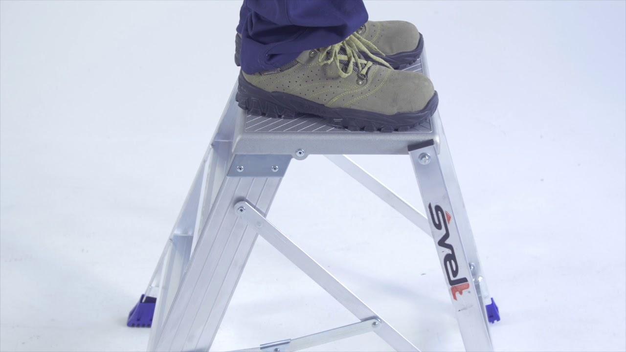 Matrix sgabello a gradini e piattaforma ad un tronco di salita