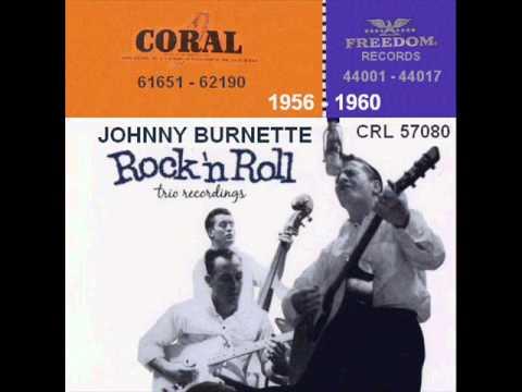 Johnny Burnette Coral 45 RPM Records - 1956 - 1960