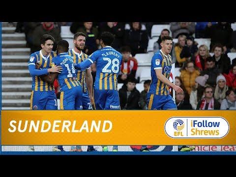 HIGHLIGHTS: Sunderland 1 Shrewsbury Town 1