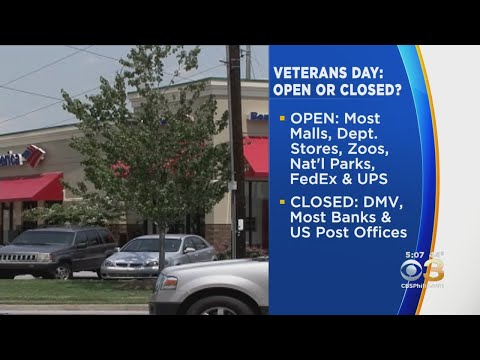 What's Open And Closed On Veteran's Day Since It's A Federal Holiday