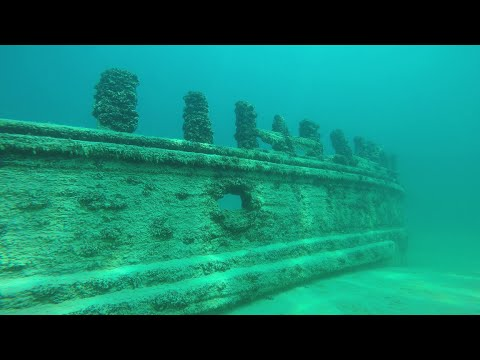 Three Brothers Shipwreck in 4K! Dove May 22nd 2016. Lake Michigan/South Manitou Island