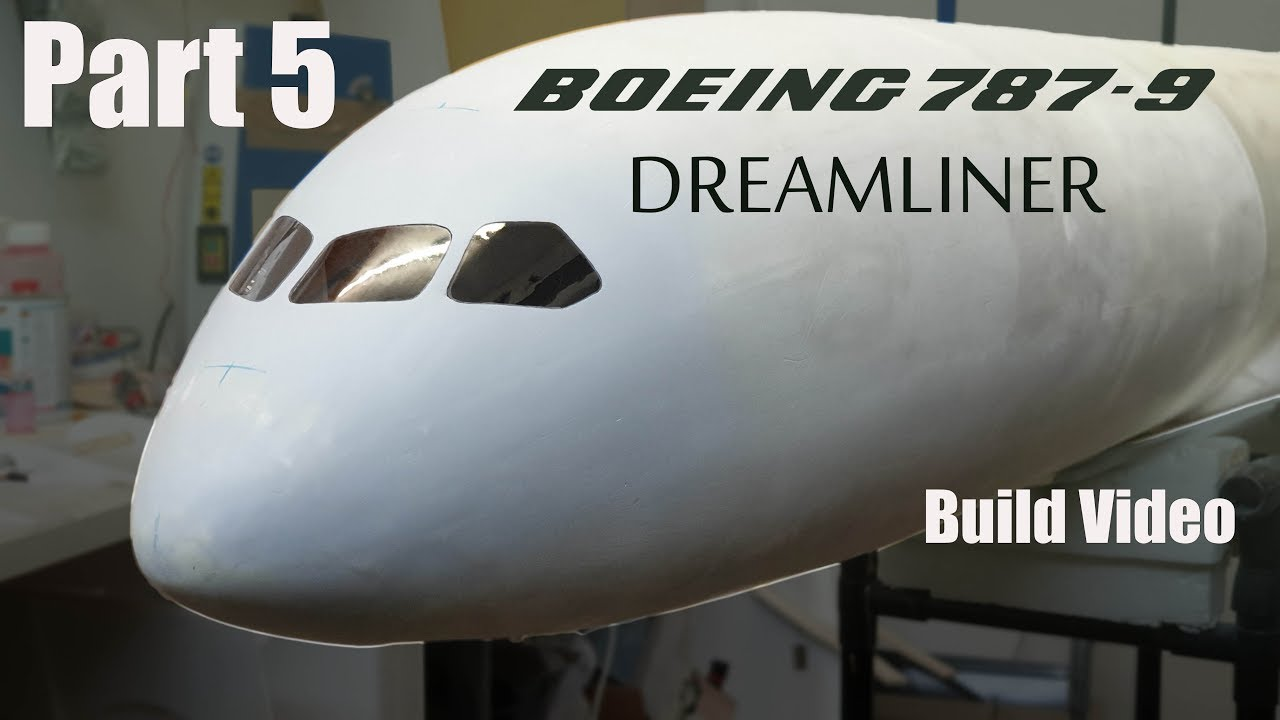 Boeing 787-9 Dreamliner RC airliner build video PART 5