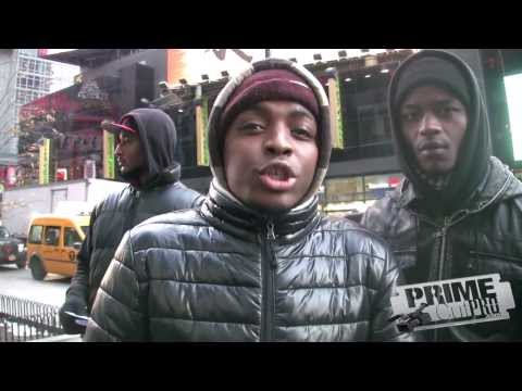 New York City - Times Square Freestyle Rap