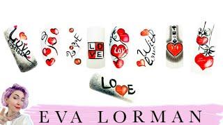 Дизайн Ногтей! Уроки росписи ногтей! Рисунки на Ногтях! Как рисовать сердечки!