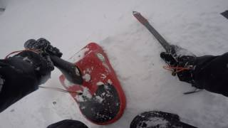 Gambar cover Zipfy sled on Mt washington NH John Sherburne trail 3-25-17 clip 12