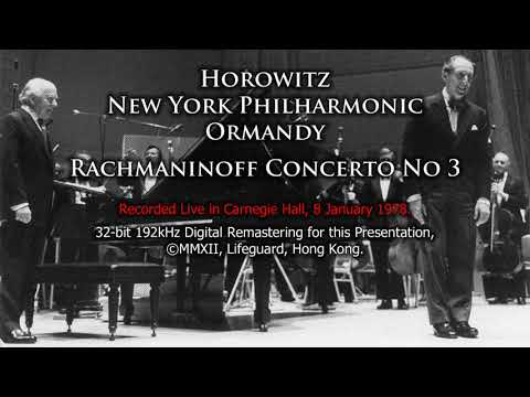 Rachmaninov Piano concerto no. 3 in D-minor, Vladimir Horowitz