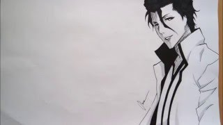 How to Draw Aizen Sousuke