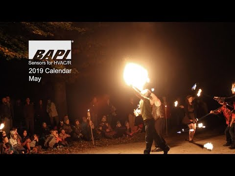 BAPI 2019 Calendar, May - Fire Dancing