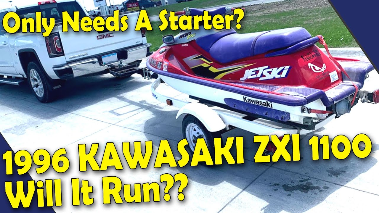 I Bought A 1996 Kawasaki Zxi 1100 Jet Ski Starter Replacement Will It Run Youtube