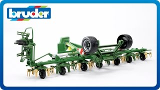 bruder toys krone trailed rotary tedder with seperate running gear kwt 8 82 02224