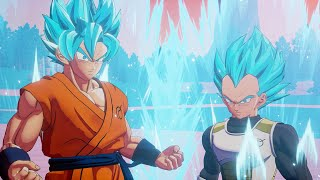 Goku & Vegeta Achieve SSB! Z Fighters VS Frieza Force| DBZ Kakarot: A New Power Awakens Part 2