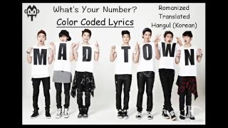 MADTOWN - What's Your Number?   Color Coded