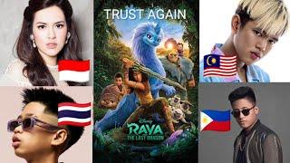 Download TRUST AGAIN (Lyric) - Raya And The Last Dragon   🇮🇩🇲🇾🇵🇭🇹🇭 Raisa, Yonnyboii, Matthaios, Sprite
