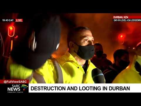 KZN Unrest   Durban community members protect Newlands shops
