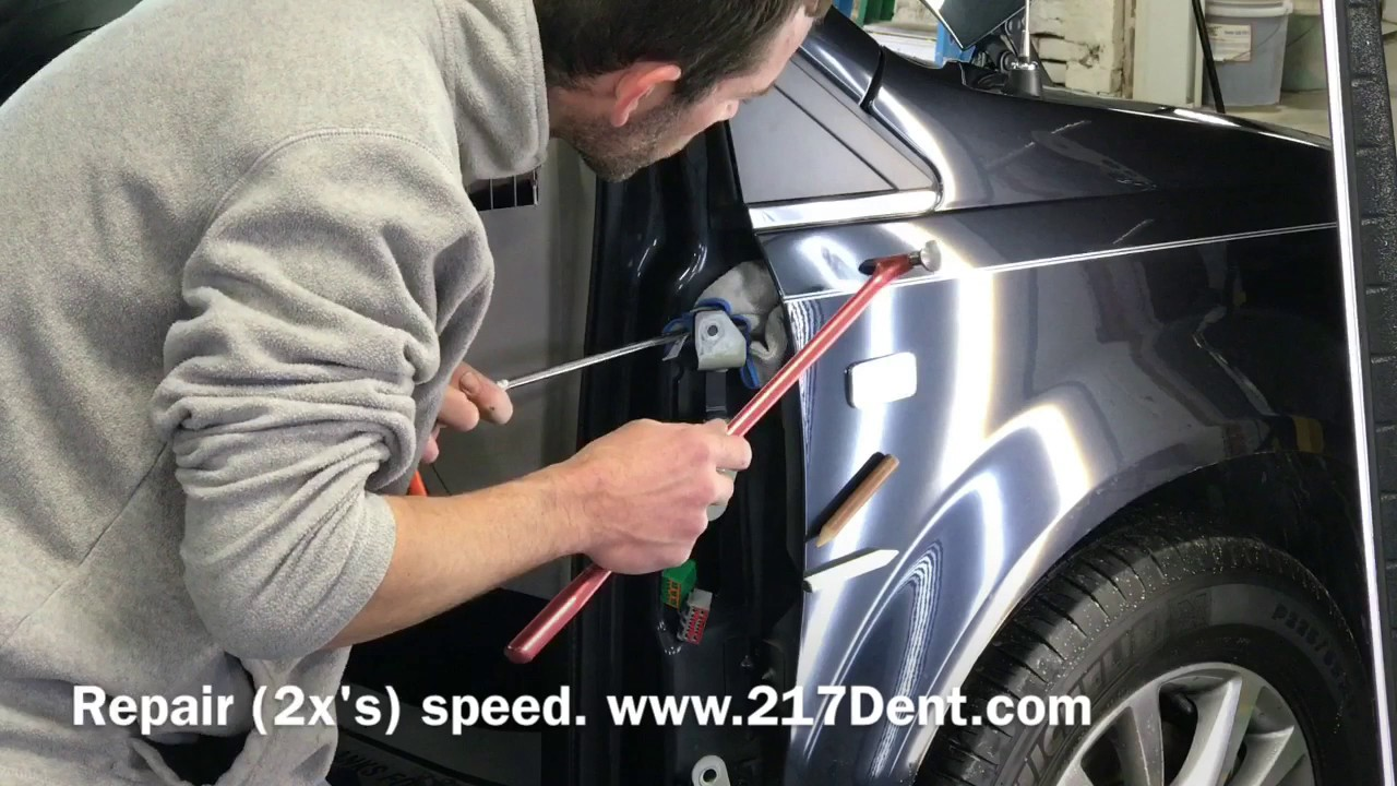 Door Removal for fender Dent Removal | Town and Country Van & Door Removal for fender Dent Removal | Town and Country Van - YouTube