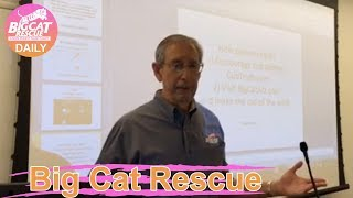 Big Cat Rescue~Howard Baskin lectures at International conference about the plight of big cats