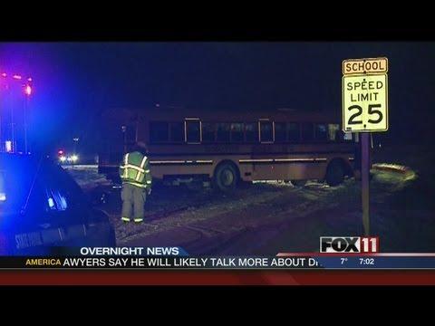GDW7SAT 2 teens killed after crashing into school bus near New London
