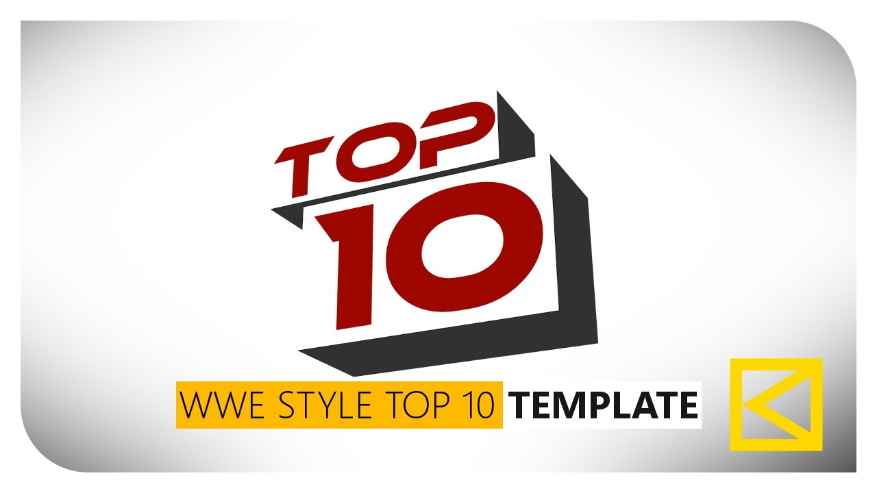 free wwe style top 10 countdown animation template by