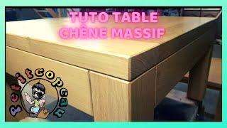 fabrication table basse chêne