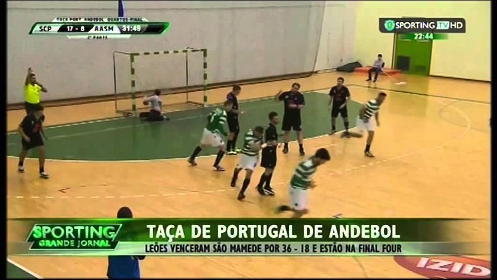 Andebol :: Sporting - 36 x AA São Mamede - 18 de 2014/2015 Taça de Portugal 1/4 Final